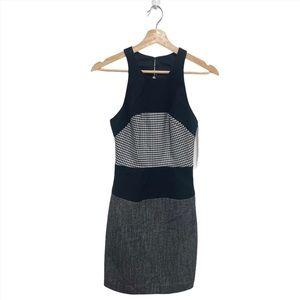 Black Halo High Neck sleeveless Sheath Dress